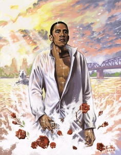 Mythical rendering of Barack Obama. Source Unknown
