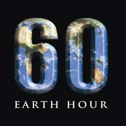 60 minutes - Earth Hour.  March 28, 2009, 8:30PM - 9:30PM YOUR time